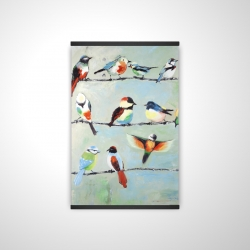 Magnetic 20 x 30 - 3D - Small abstract colorful birds