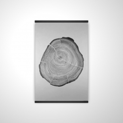 Magnetic 20 x 30 - 3D - Grayscale oval shaped tree slab