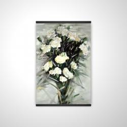 Magnetic 20 x 30 - 3D - Lisianthus white bouquet