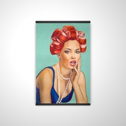 Magnetic 28 x 42 - 3D - Pin up girl with curlers