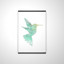 Magnetic 20 x 30 - 3D - Geometric hummingbird