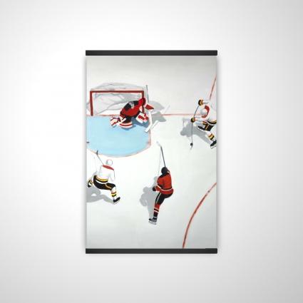 Eventful hockey game