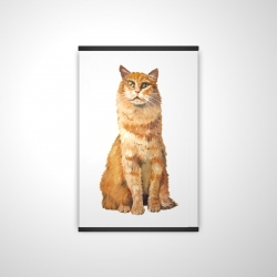 Magnetic 20 x 30 - 3D - Ginger cat