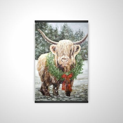 Vache highland de noël
