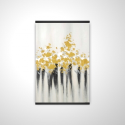 Magnetic 28 x 42 - 3D - Abstract gold flowers