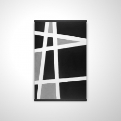 Magnetic 20 x 30 - 3D - Black and white abstract shapes