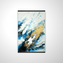 Magnetic 20 x 30 - 3D - Blue and gold marble
