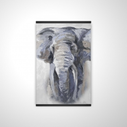 Magnetic 20 x 30 - 3D - Pastel blue elephant