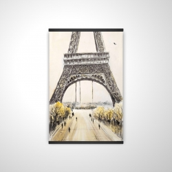 Magnetic 20 x 30 - 3D - Eiffel tower with flying birds