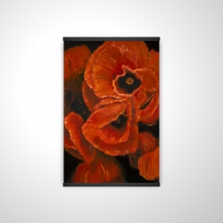 Magnetic 20 x 30 - 3D - Poppy bouquet