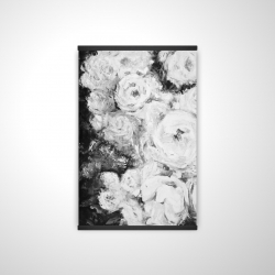 Magnetic 20 x 30 - 3D - Monochrome rose garden
