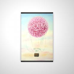 Magnetic 20 x 30 - 3D - Hot air balloon hydrangea flowers