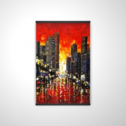 Magnetic 20 x 30 - 3D - Abstract sunset on the city