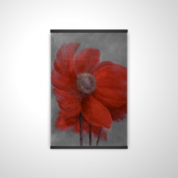 Magnetic 20 x 30 - 3D - Red flower in the wind