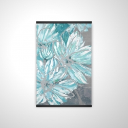 Magnetic 20 x 30 - 3D - Three little abstract blue flowers