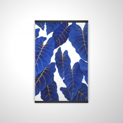 Magnetic 20 x 30 - 3D - Tropical abstract blue leaves
