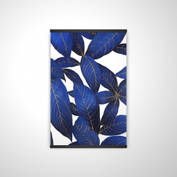Magnetic 20 x 30 - 3D - Abstract modern blue leaves