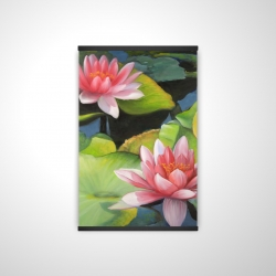 Magnetic 20 x 30 - 3D - Water lilies and lotus flowers