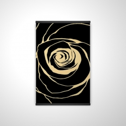 Magnetic 20 x 30 - 3D - Black rose