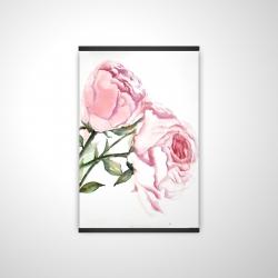 Magnetic 20 x 30 - 3D - Watercolor pink roses