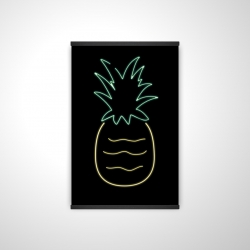 Magnetic 20 x 30 - 3D - Neon pineapple