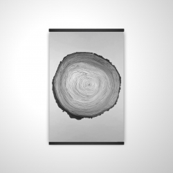 Magnetic 20 x 30 - 3D - Grayscale round wood log