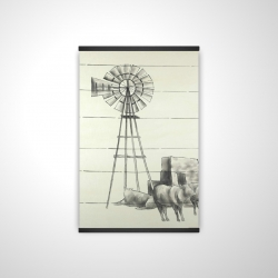 Magnetic 20 x 30 - 3D - Vintage old texas windmill