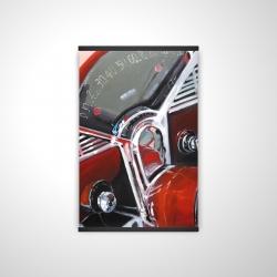 Magnetic 20 x 30 - 3D - Vintage red car dashboard