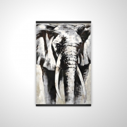 Magnetic 20 x 30 - 3D - Grayscale elephant
