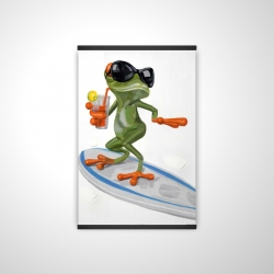 Magnetic 20 x 30 - 3D - Funny frog surfing