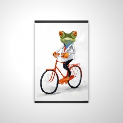 Magnetic 20 x 30 - 3D - Funny frog riding a bike