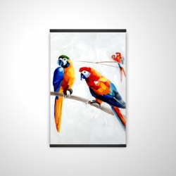 Magnetic 28 x 42 - 3D - Parrots on a branch