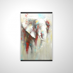 Magnetic 20 x 30 - 3D - Abstract elephant with paint splash