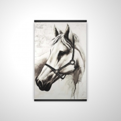 Magnetic 20 x 30 - 3D - Flicka the white horse