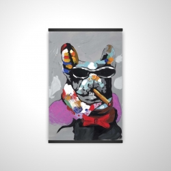 Magnetic 20 x 30 - 3D - Abstract bulldog with cigar