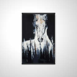 Magnetic 20 x 30 - 3D - Abstract white horse on black background