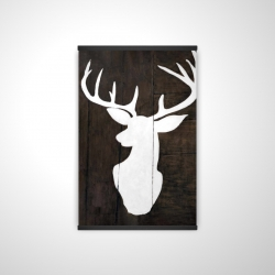 Magnetic 20 x 30 - 3D - Silhouette of a deer on wood