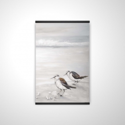 Magnetic 20 x 30 - 3D - Two sandpipiers birds