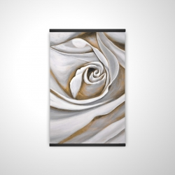 Magnetic 20 x 30 - 3D - White rose closeup