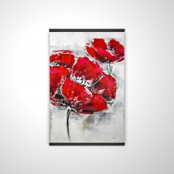 Magnetic 20 x 30 - 3D - Abstract and texturized red flowers