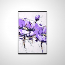 Magnetic 20 x 30 - 3D - Purple anemone flowers