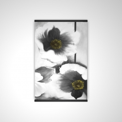 Magnetic 20 x 30 - 3D - Black and white flowers
