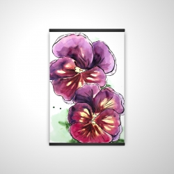Magnetic 20 x 30 - 3D - Two blossoming orchid with wavy petals