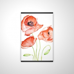 Magnetic 20 x 30 - 3D - Watercolor poppies