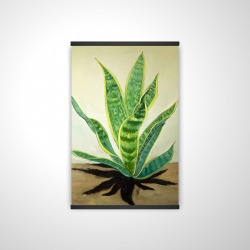Magnetic 20 x 30 - 3D - Succulent plant mother-in-law's tongue