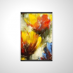 Magnetic 20 x 30 - 3D - Texturized yellow flowers