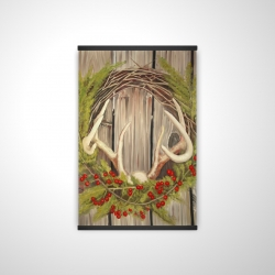 Magnetic 20 x 30 - 3D - Christmas wreath with panache