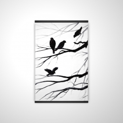 Magnetic 20 x 30 - 3D - Silhouette of birds