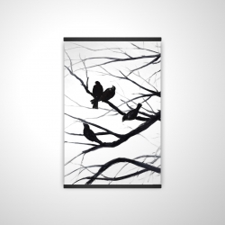 Magnetic 20 x 30 - 3D - Birds and branches silhouette
