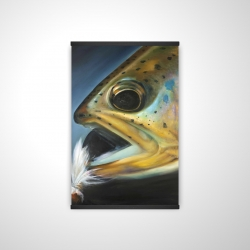 Magnetic 20 x 30 - 3D - Golden trout with fly fishing flie